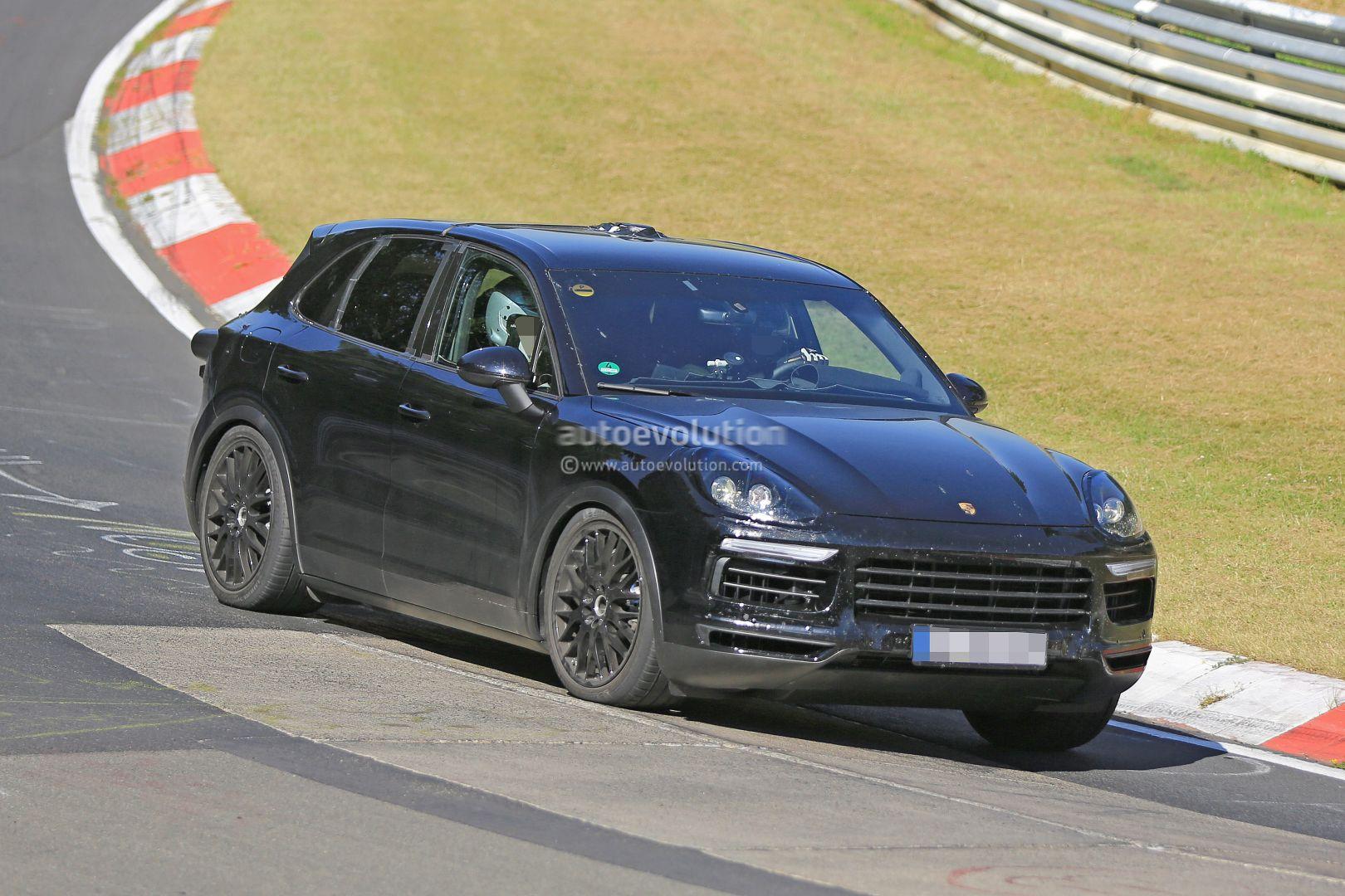 2018 porsche electric. unique electric new 2018 porsche cayenne prototype on nurburgring in porsche electric u