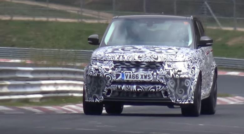 2018 Range Rover Sport SVR Facelift Laps Nurburgring
