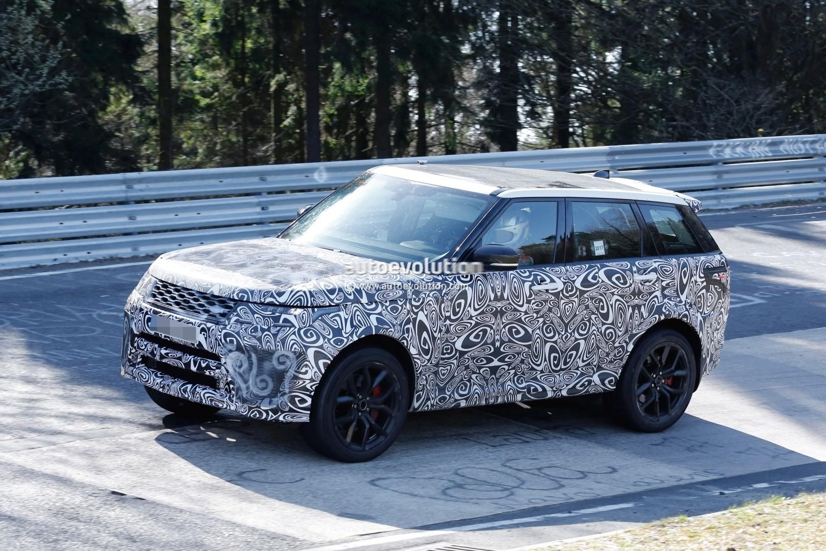2018 range rover sport svr shows production lights exhaust tips on nurburgring autoevolution. Black Bedroom Furniture Sets. Home Design Ideas