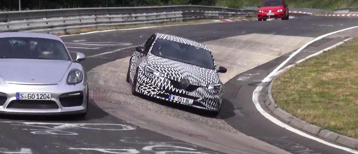 2018 renault megane rs bullies german cars on nurburgring prototypes go berserk autoevolution. Black Bedroom Furniture Sets. Home Design Ideas