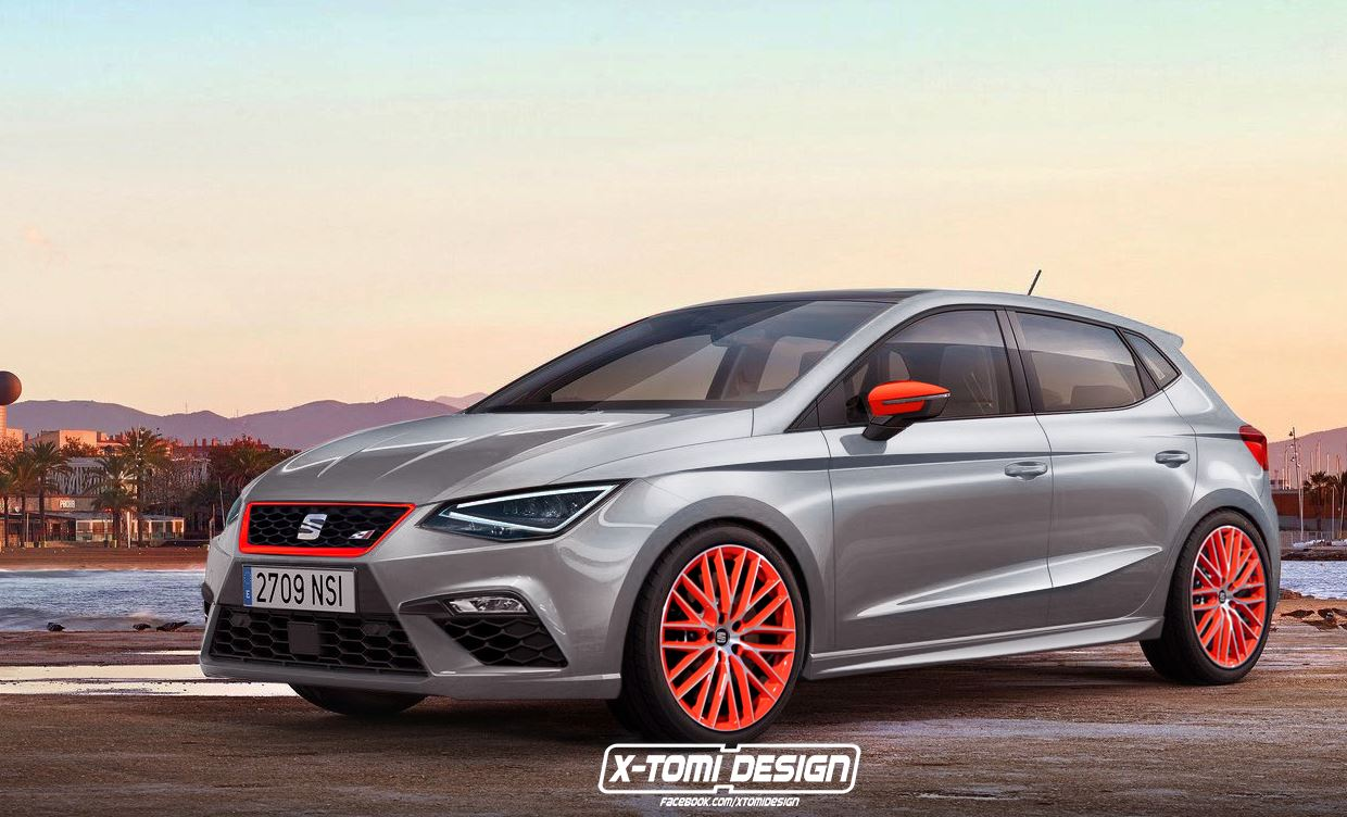 2018 seat ibiza cupra rendering is called 250 has orange. Black Bedroom Furniture Sets. Home Design Ideas