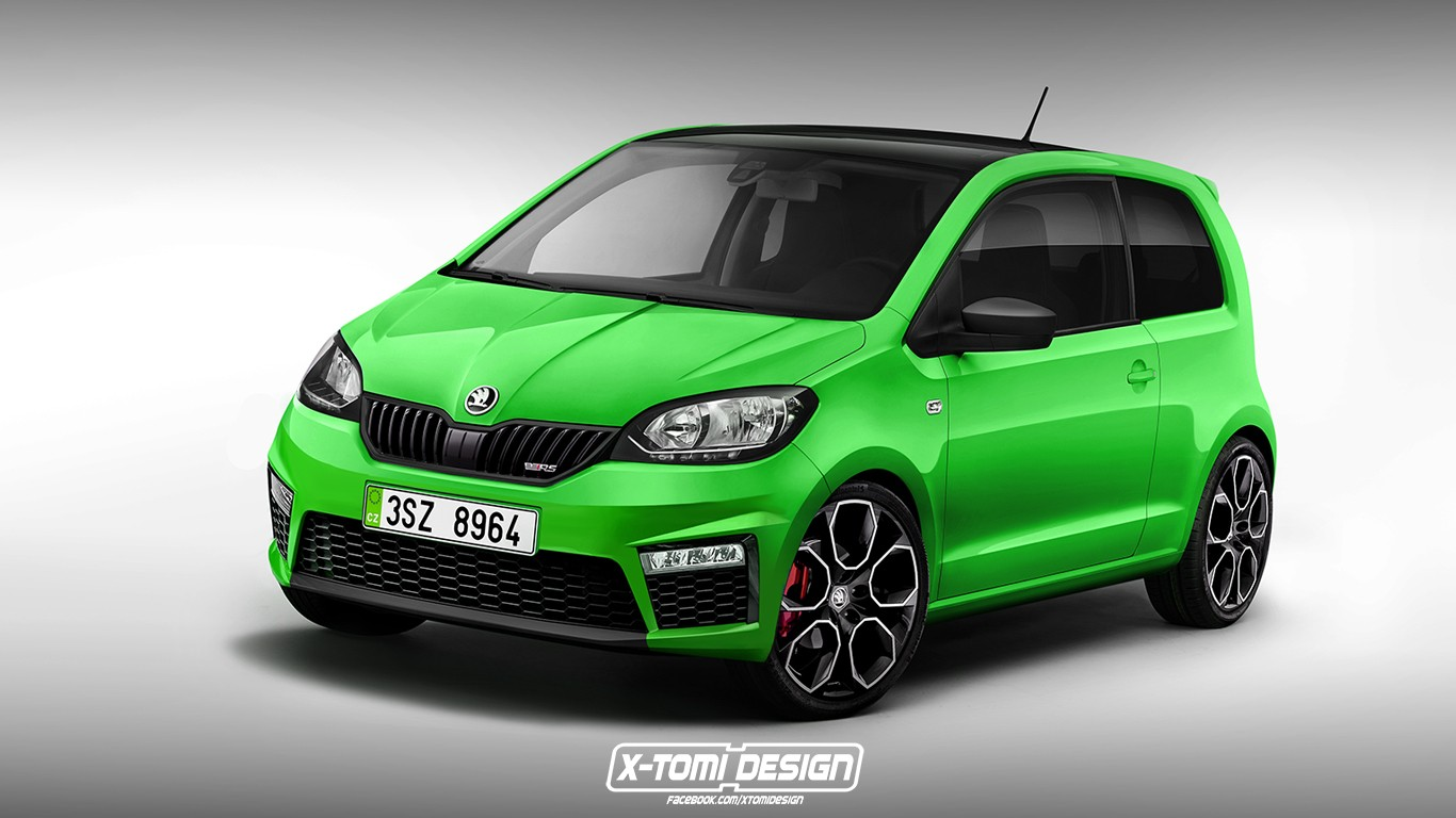 all new skoda citigo coming in 2018 with ev powertrain and distinctive styling autoevolution. Black Bedroom Furniture Sets. Home Design Ideas