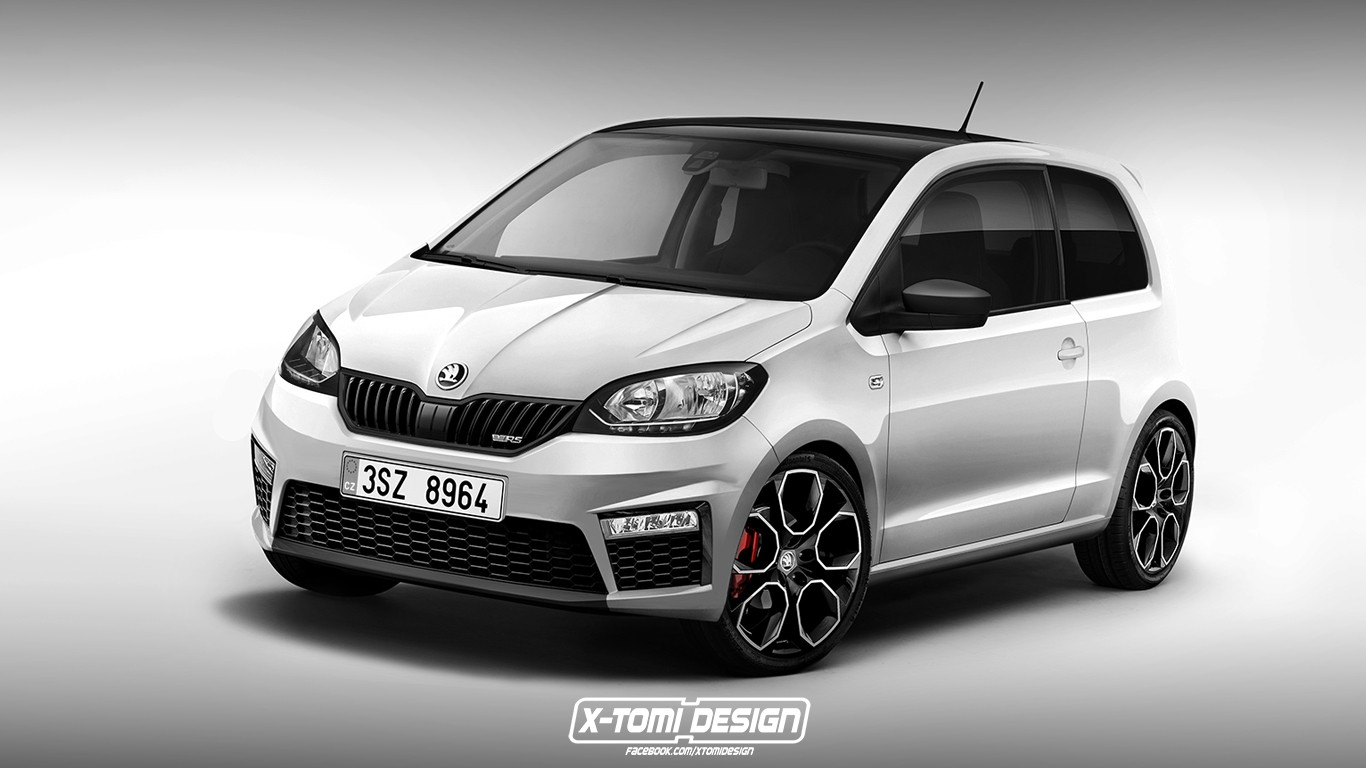 2018 skoda citigo rs renderings yes please make this autoevolution. Black Bedroom Furniture Sets. Home Design Ideas