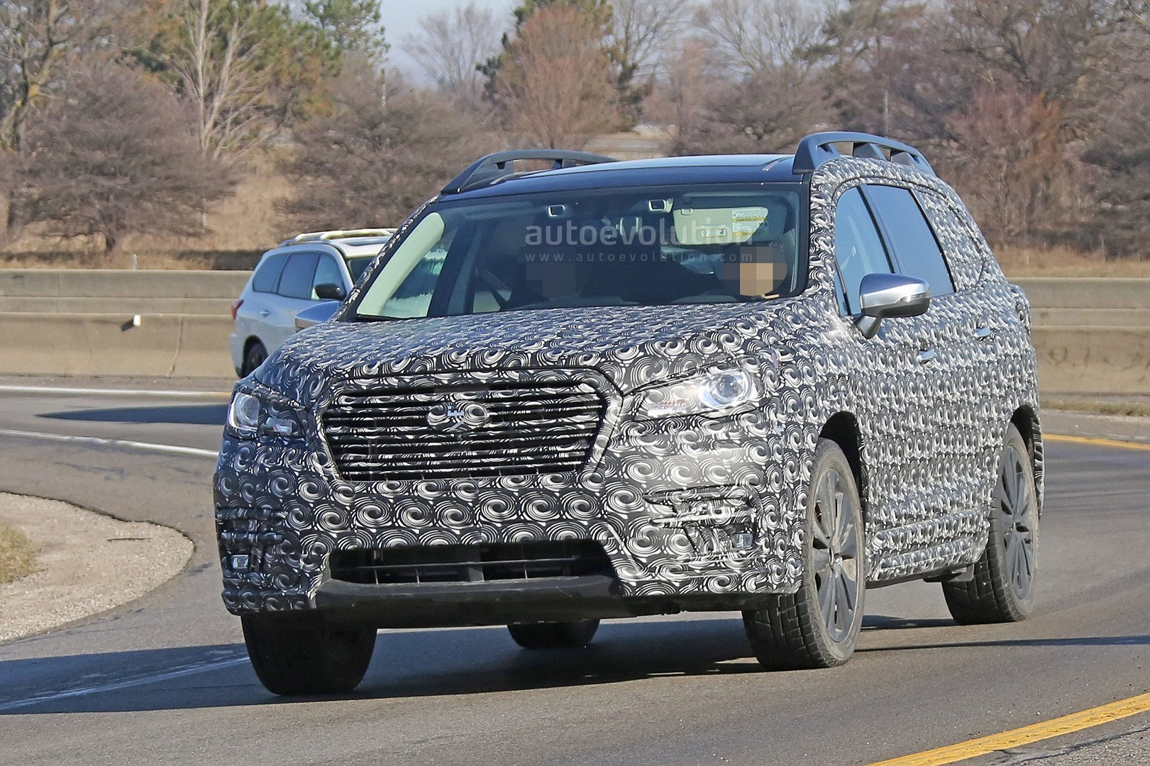 2018 subaru ascent. wonderful 2018 2018 subaru ascent 3row crossover suv spied in detail for subaru ascent o
