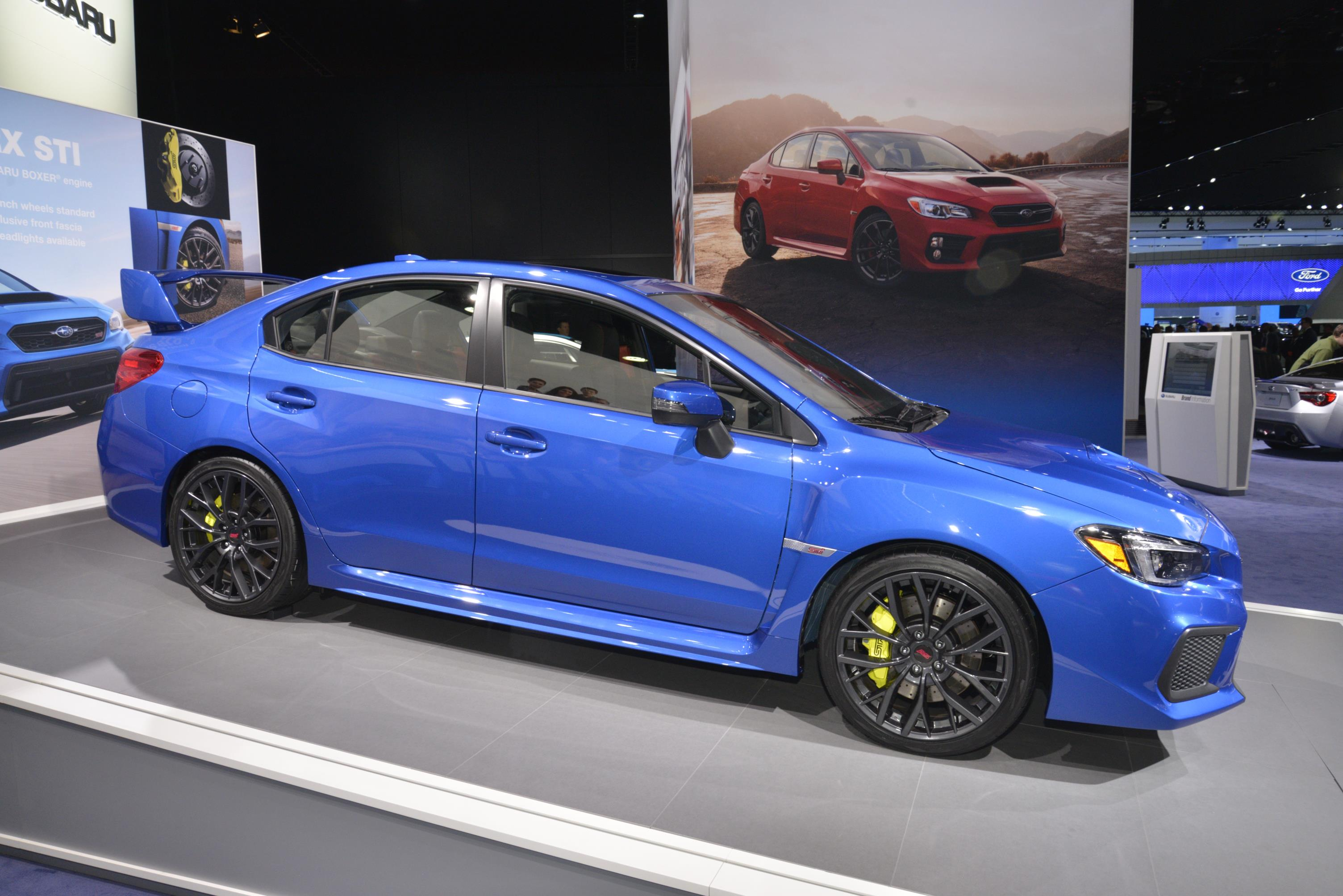 2018 subaru sedan. contemporary 2018 2018 subaru wrx and sti live from detroit throughout subaru sedan s