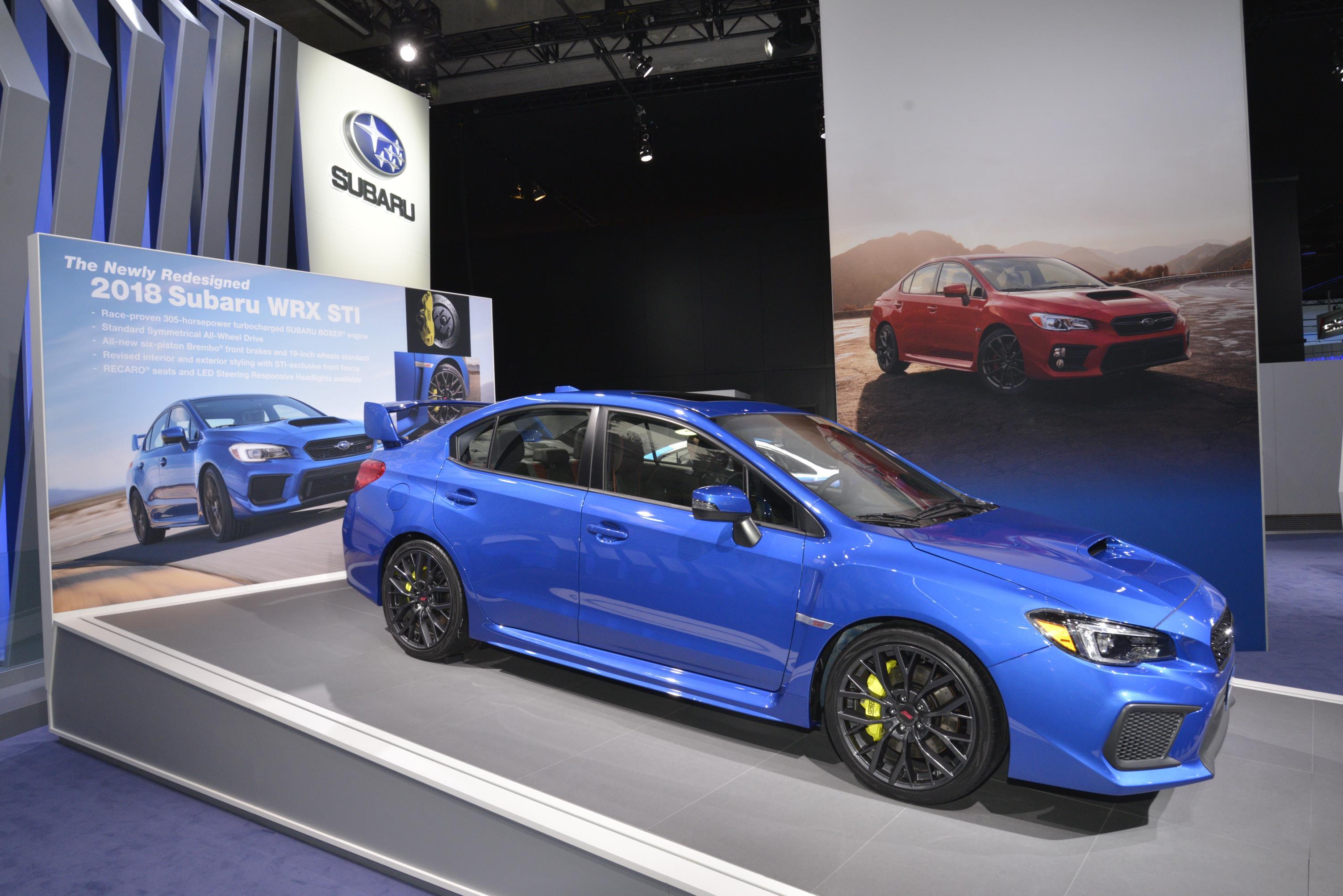 2018 Subaru WRX and WRX STI Debut in Detroit - autoevolution