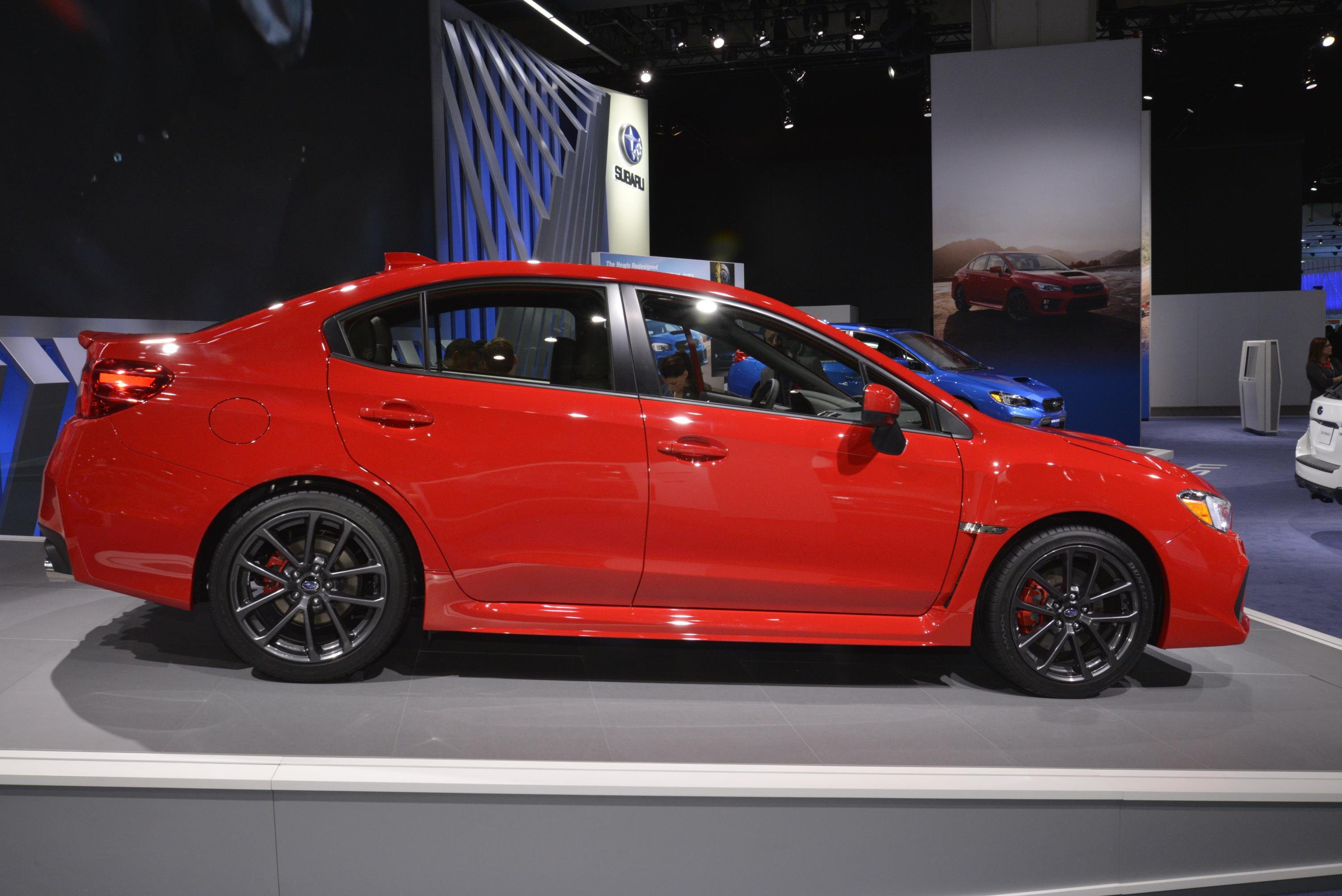 2018 subaru sedan. wonderful 2018 2018 subaru wrx and sti live from detroit to subaru sedan h