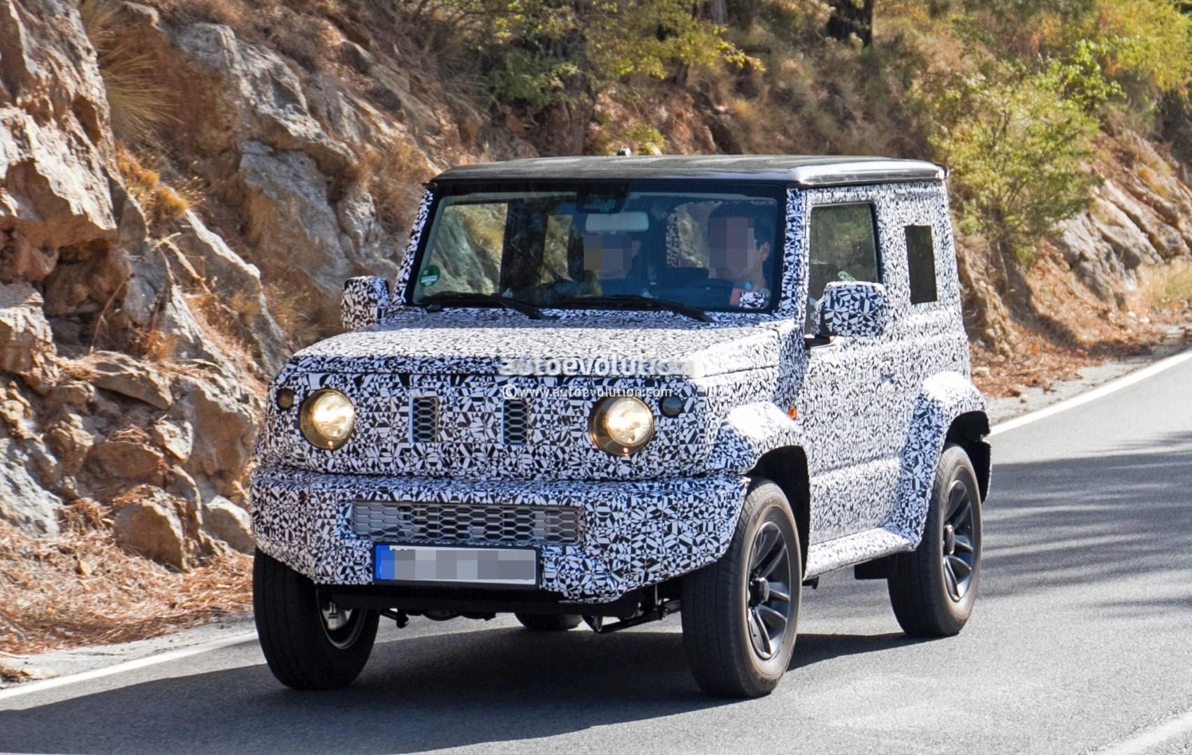 2018 suzuki automobiles. plain automobiles new suzuki jimny spied to 2018 suzuki automobiles e