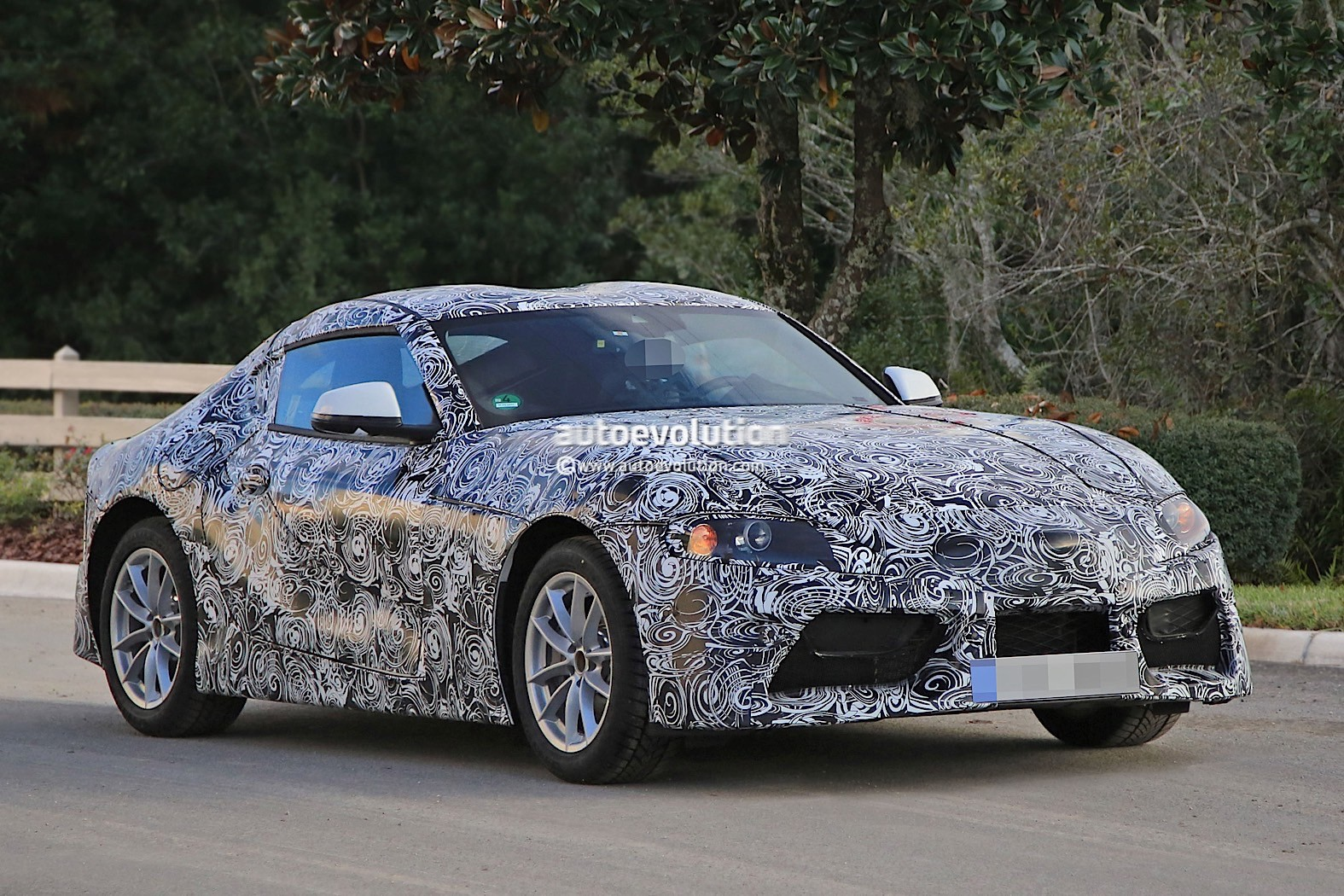 2018 Toyota Supra Prototype Debuts Production Body Looks Like Sterilized Ft 1 Autoevolution
