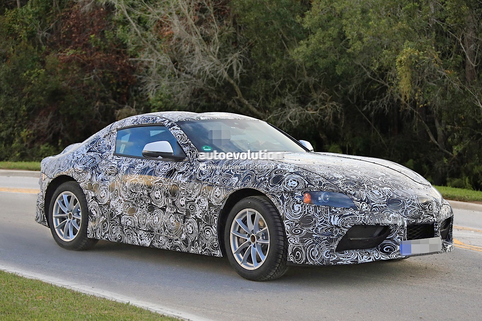 Toyota Ft 1 >> 2018 Toyota Supra Prototype Debuts Production Body, Looks Like Sterilized FT-1 - autoevolution