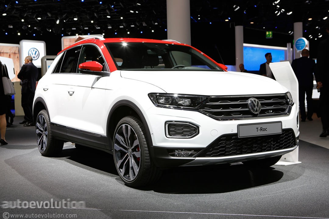 2018 volkswagen t roc shows vw 39 s funkier side in frankfurt autoevolution. Black Bedroom Furniture Sets. Home Design Ideas