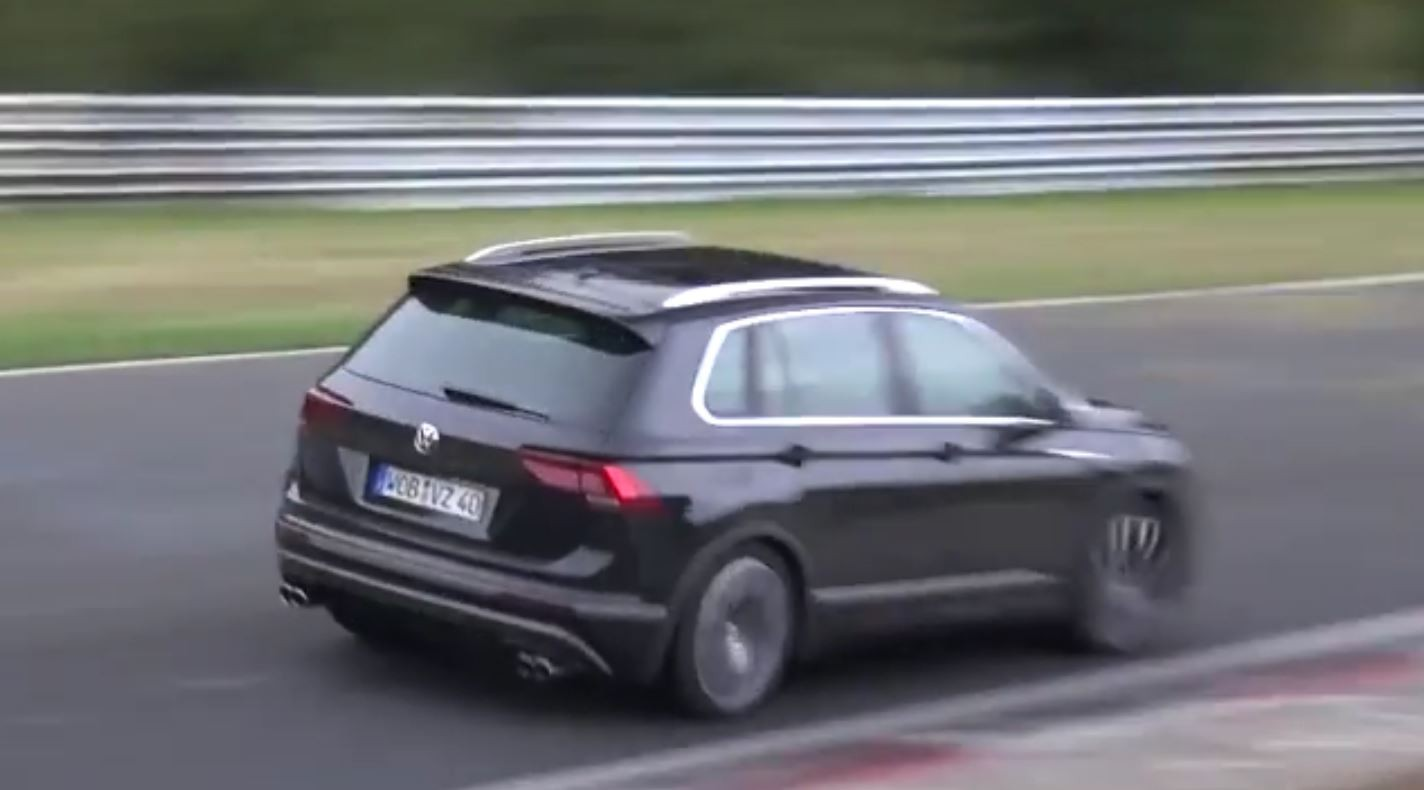 2018 Volkswagen Tiguan R Spied for the First Time at the Nurburgring ...