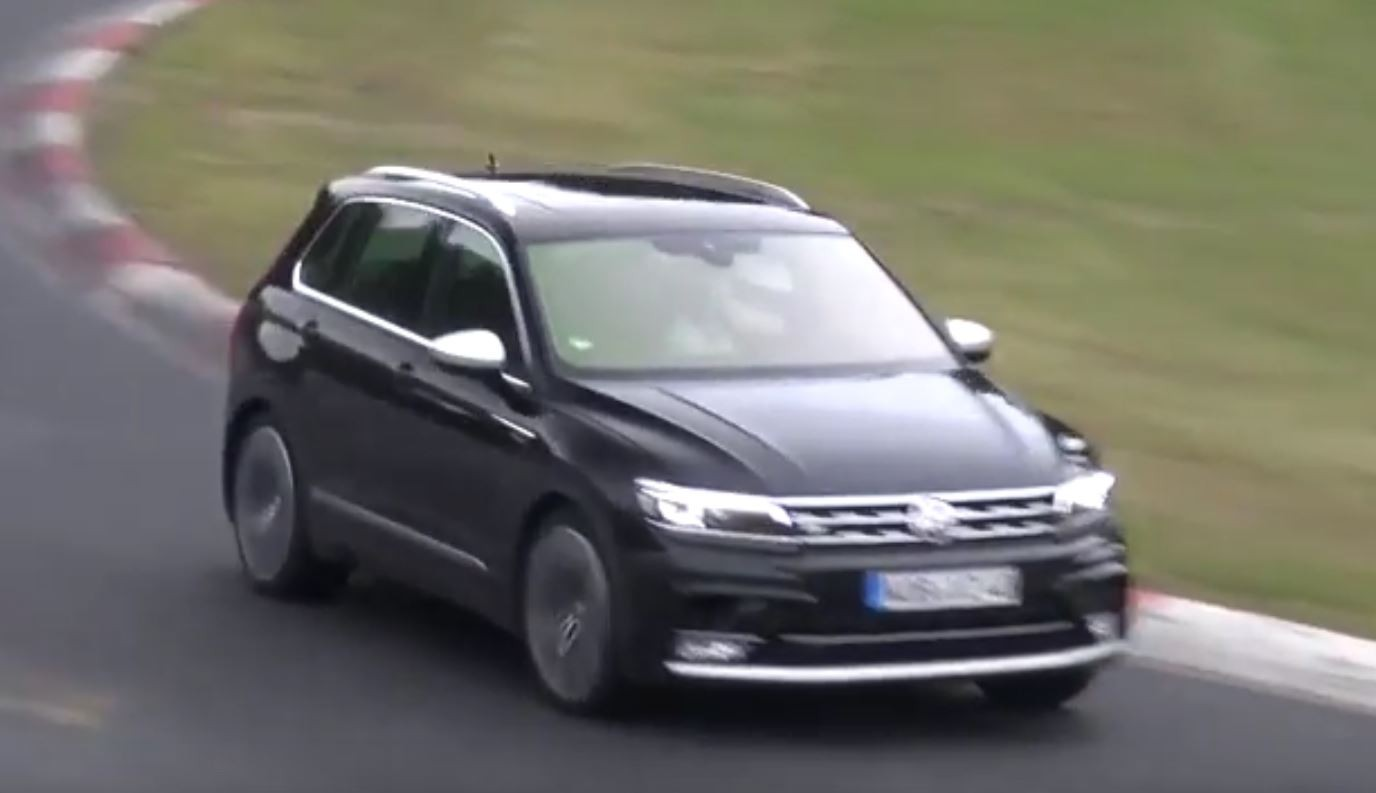 2018 Volkswagen Tiguan R Spied for the First Time at the Nurburgring - autoevolution