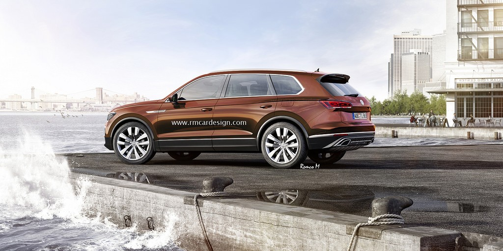 2018 Volkswagen Touareg Rendered Based on T-Prime GTE Concept - autoevolution