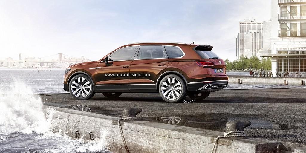 2018 volkswagen touareg rendered based on t prime gte concept autoevolution