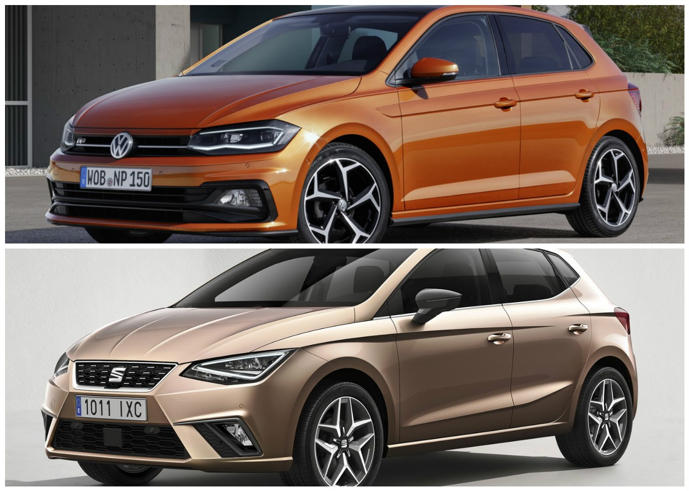 2018 vw polo vs seat ibiza mqb a0 photo comparison. Black Bedroom Furniture Sets. Home Design Ideas