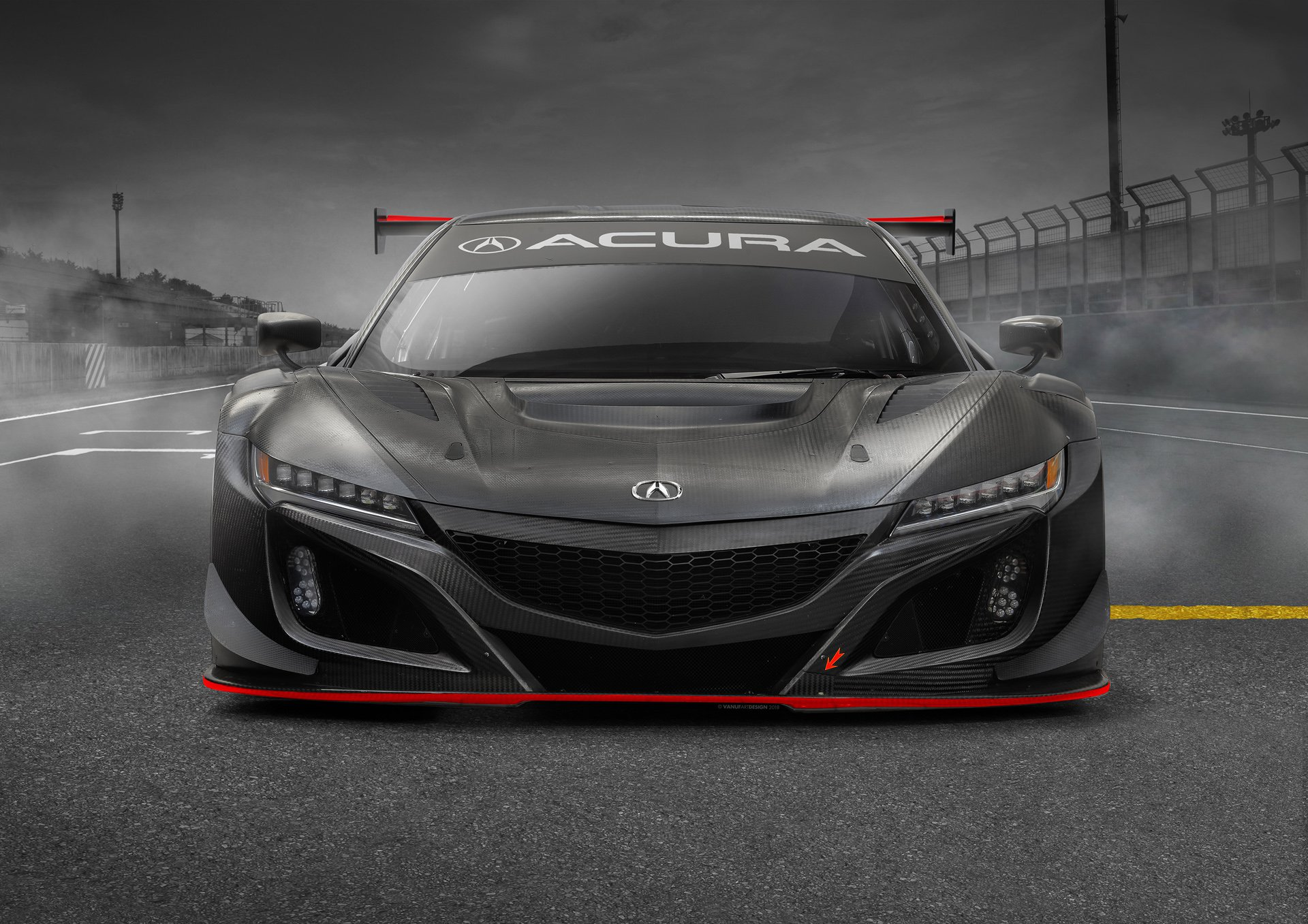 2019 acura nsx gt3 evo prepares to hit the track