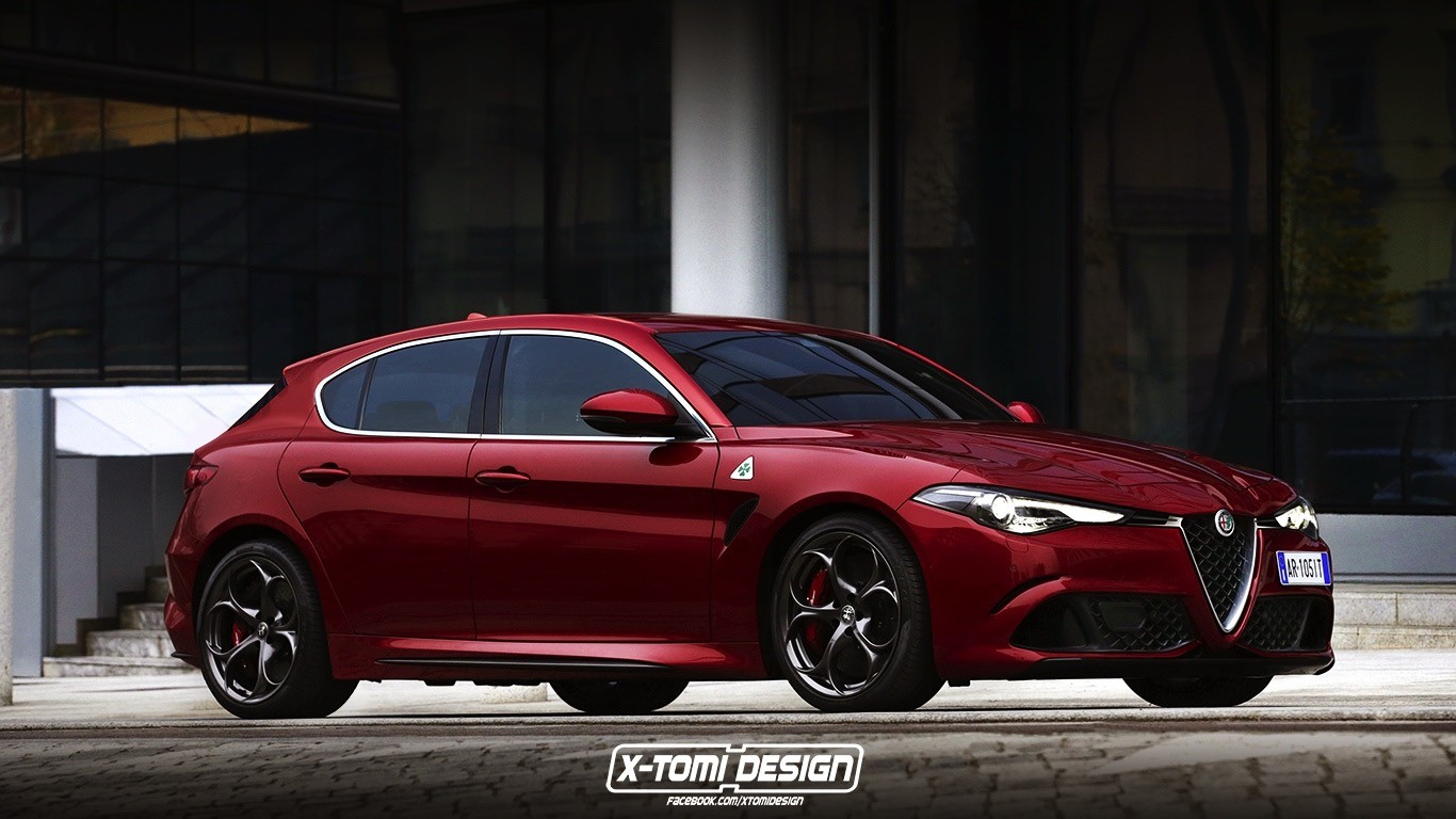 2019 alfa romeo giulietta successor rendered with giulia quadrifoglio s face autoevolution. Black Bedroom Furniture Sets. Home Design Ideas
