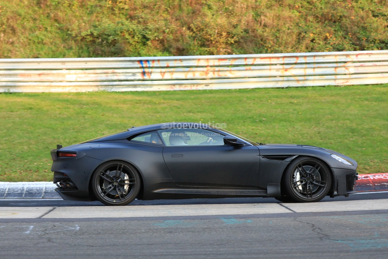 2019 Aston Martin Vanquish Spied On Nurburgring Hybridisation