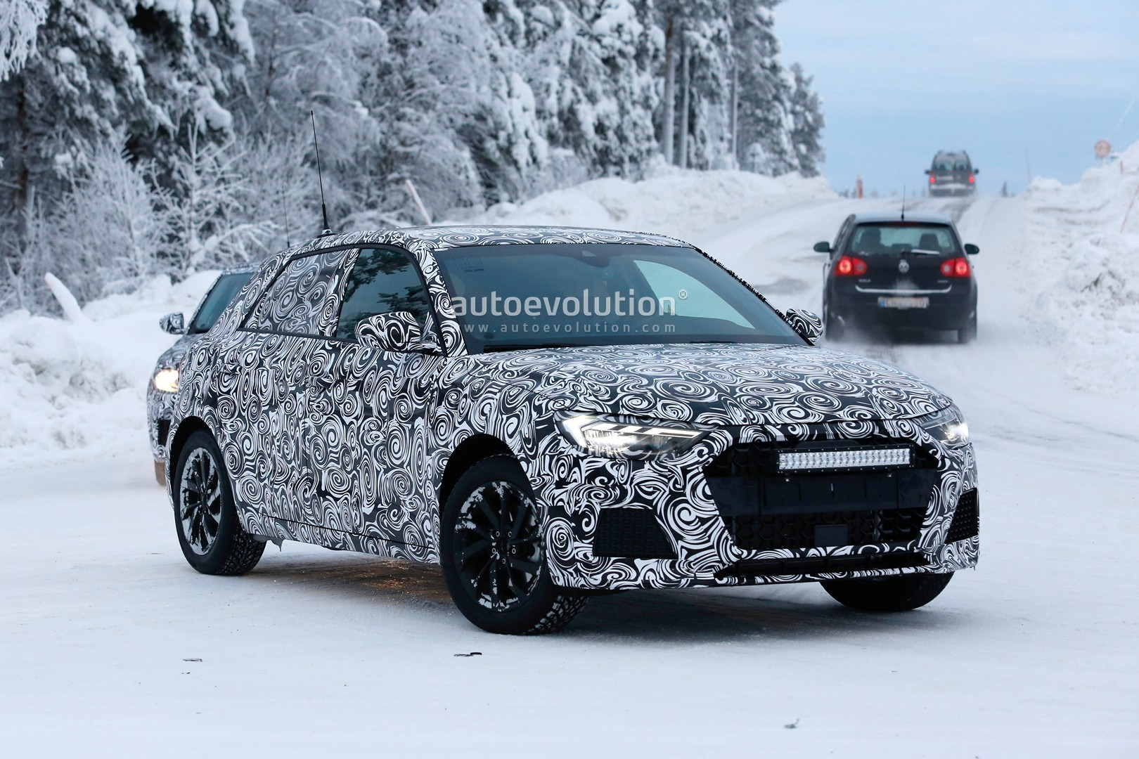2019 audi a1 shows led headlights in detail in latest spyshots autoevolution. Black Bedroom Furniture Sets. Home Design Ideas