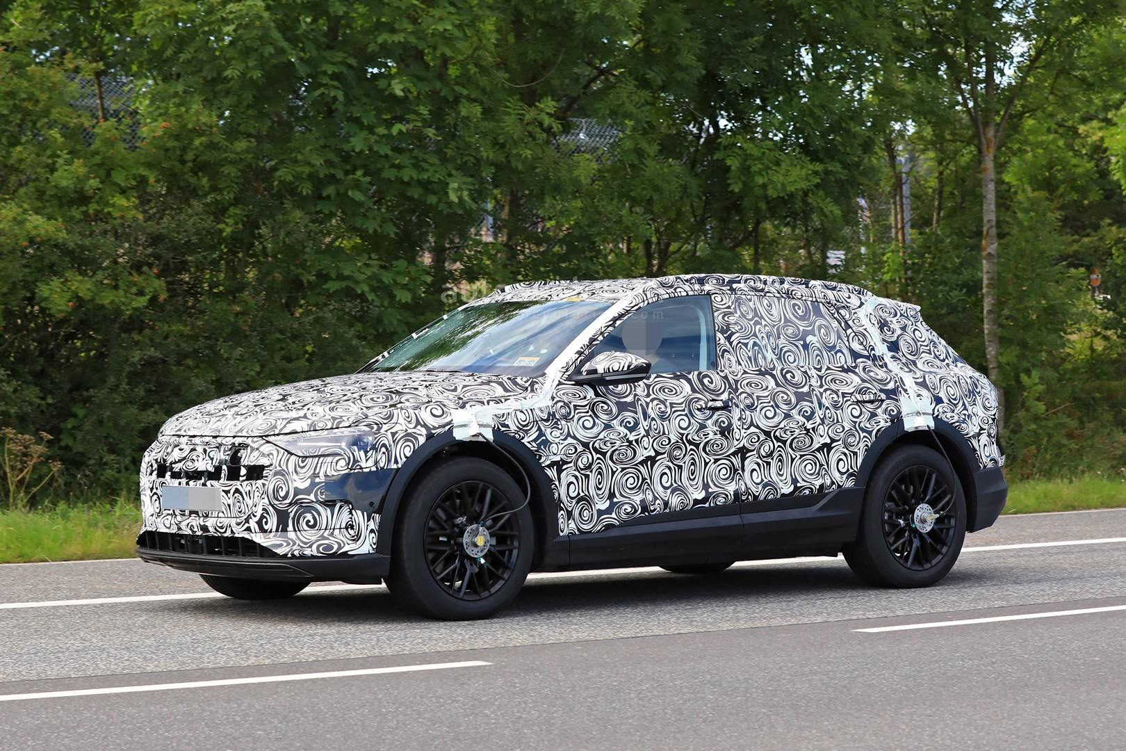 Audi E Tron Suv Tesla Rival Spied Testing Around Nurburgring