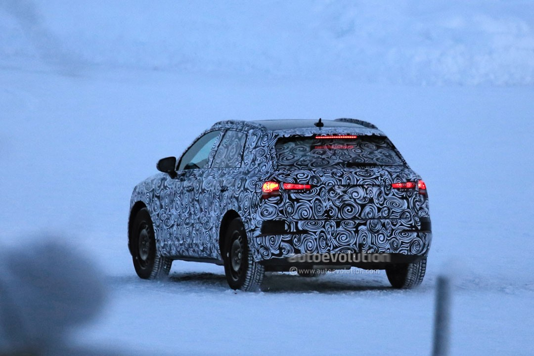spyshots snowy 2019 audi q3 sucking cold air through that massive grille autoevolution. Black Bedroom Furniture Sets. Home Design Ideas