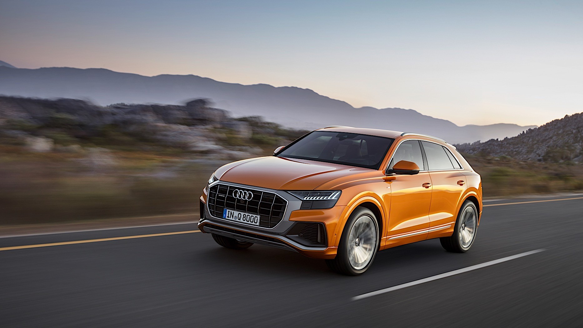 2019 Audi Q8 Spotted With Close To No Camo Reveals Q8 Sport Concept