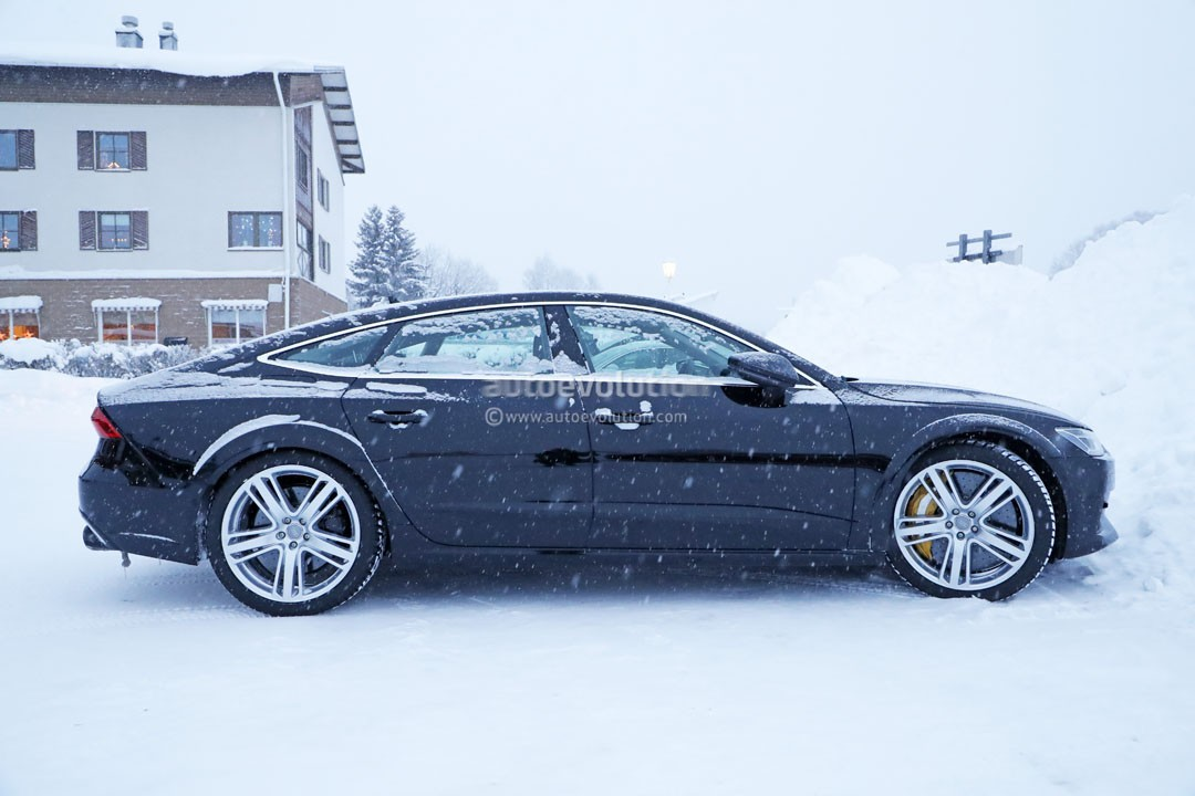 Spyshots 2019 Audi Rs7 Mule Makes Snowy Return With The