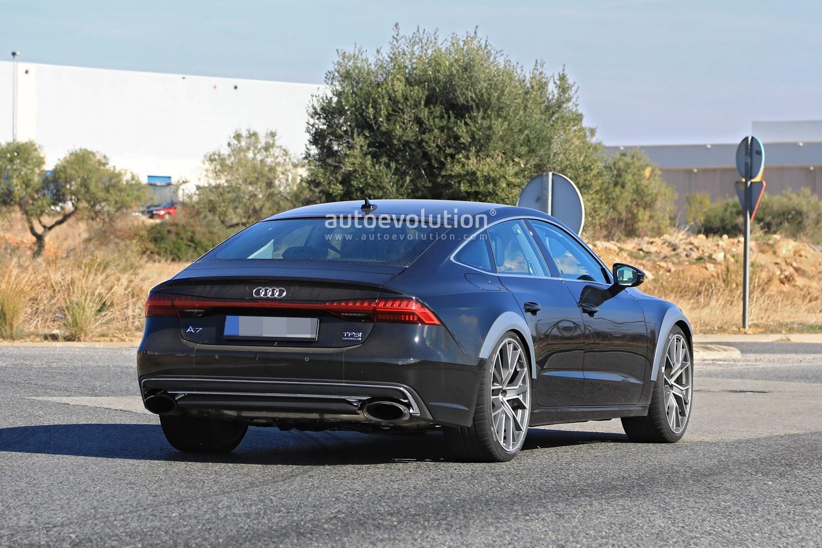 2019 Audi Rs7 Test Mule Makes Spyshots Debut Autoevolution