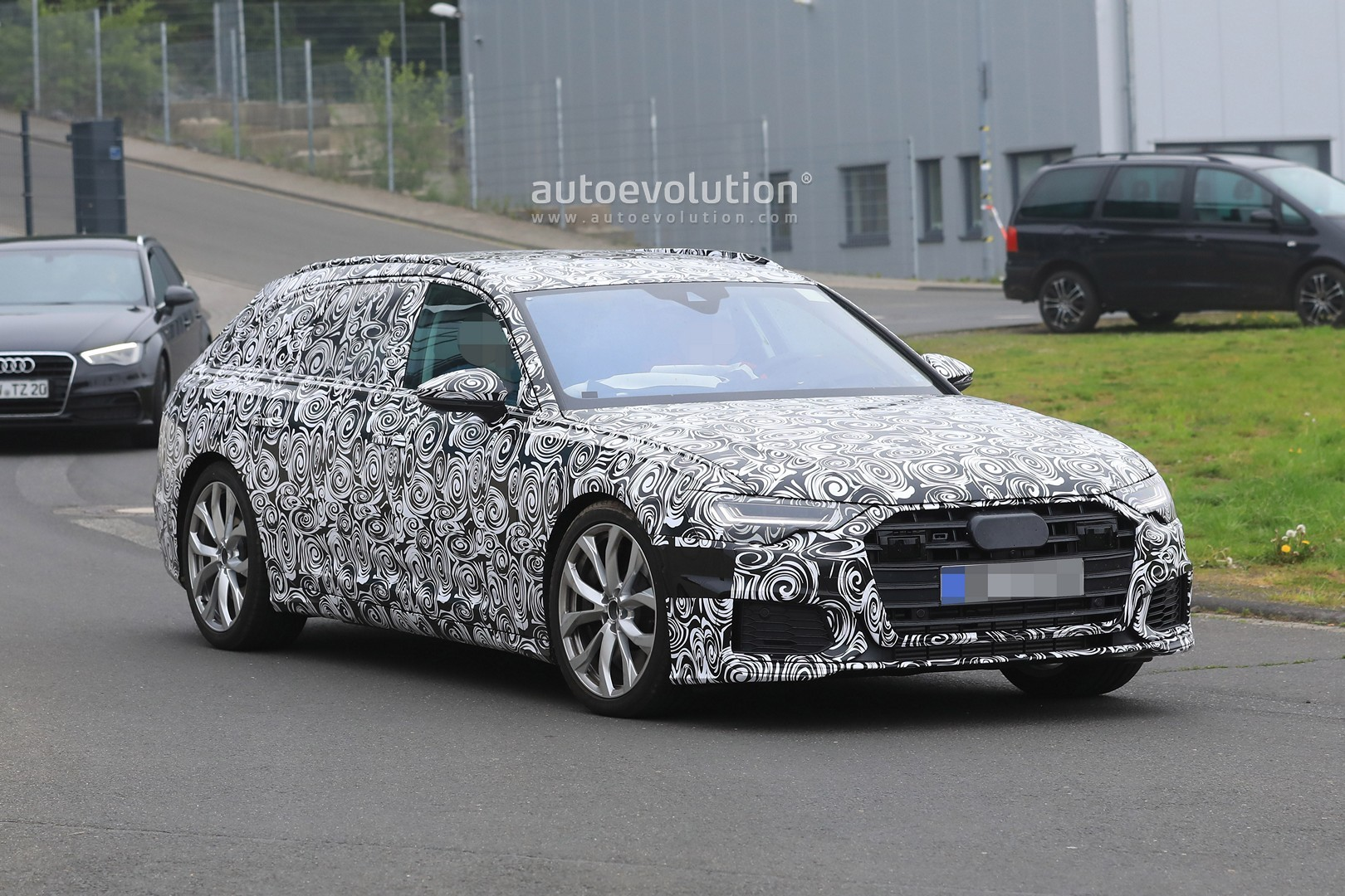 spyshots 2019 audi s6 avant connects 2 9 tfsi with quad exhaust autoevolution. Black Bedroom Furniture Sets. Home Design Ideas
