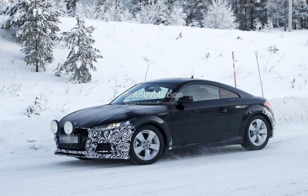 Spyshots: 2019 Audi TT Coupe Facelift Snow Testing Hides ...