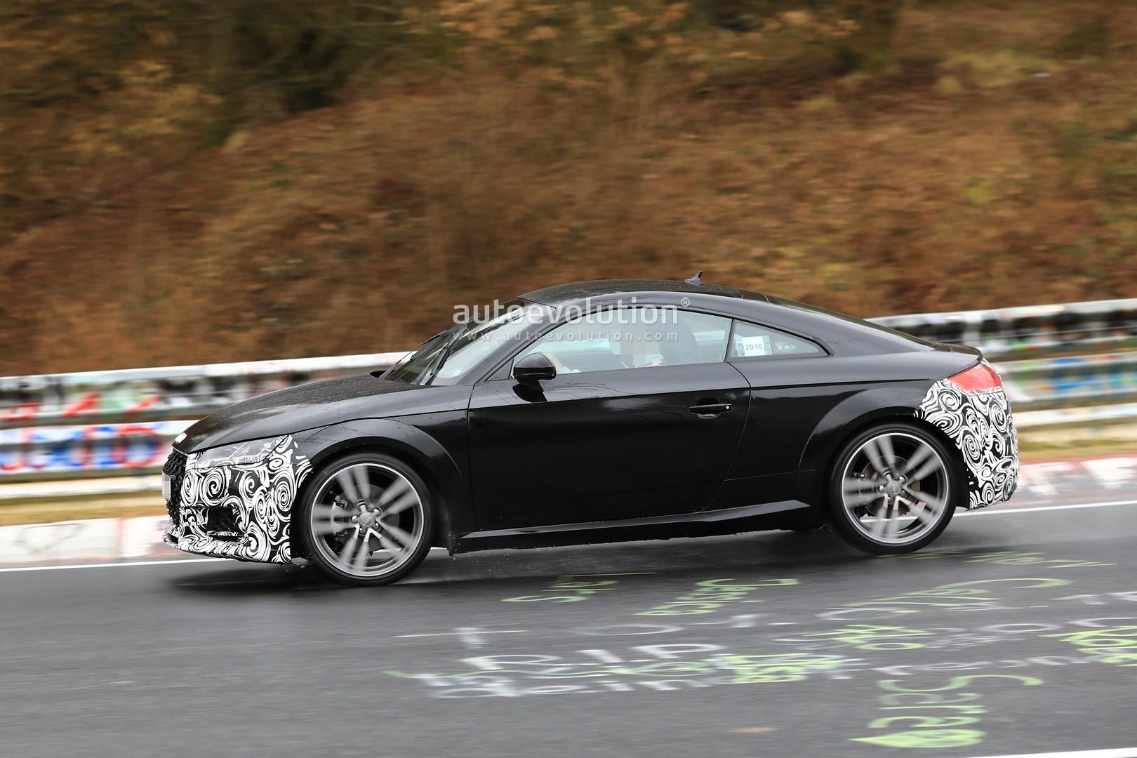 Spyshots 2019 Audi Tt Facelift Spotted Testing On The