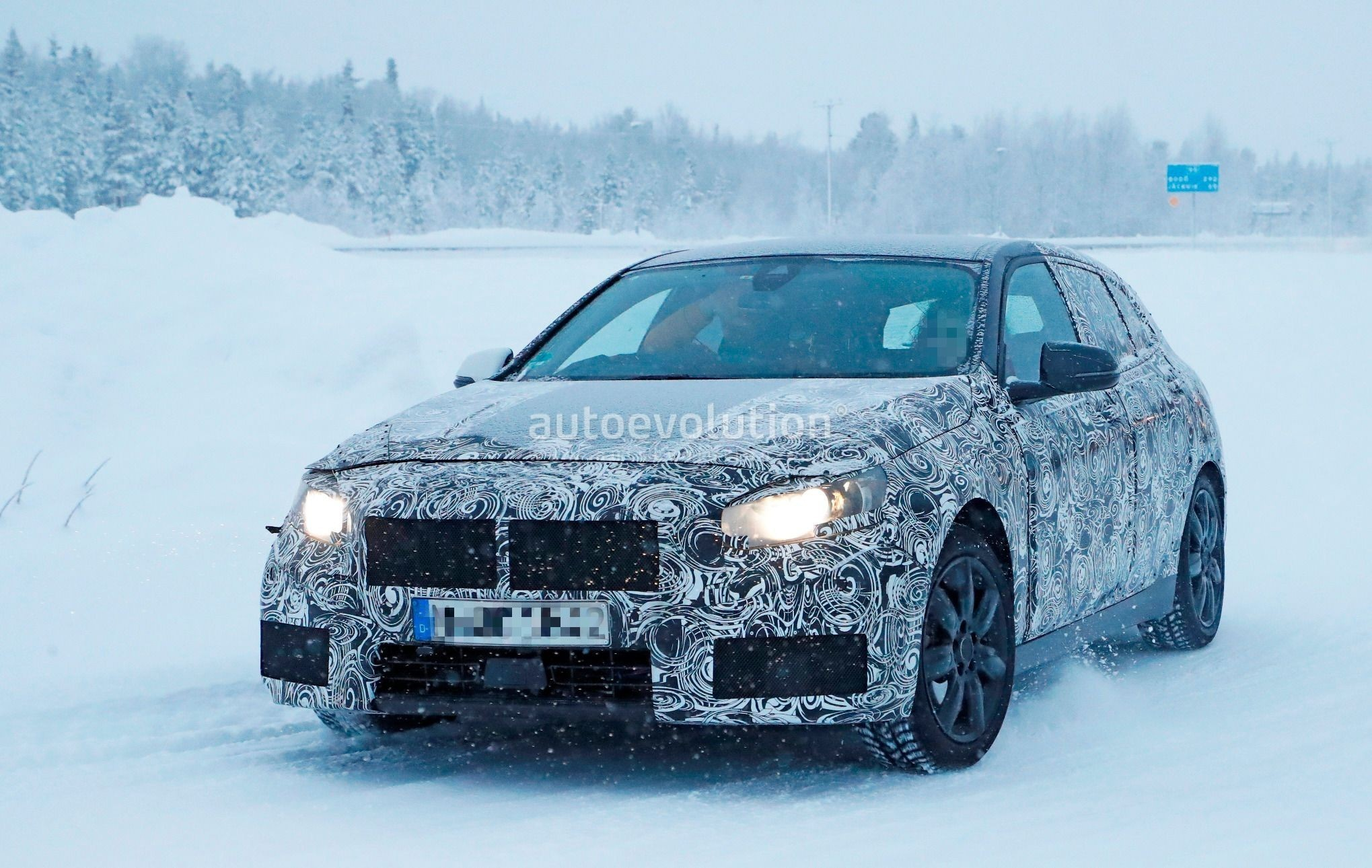spyshots 2019 bmw 1 series f40 caught playing in the. Black Bedroom Furniture Sets. Home Design Ideas