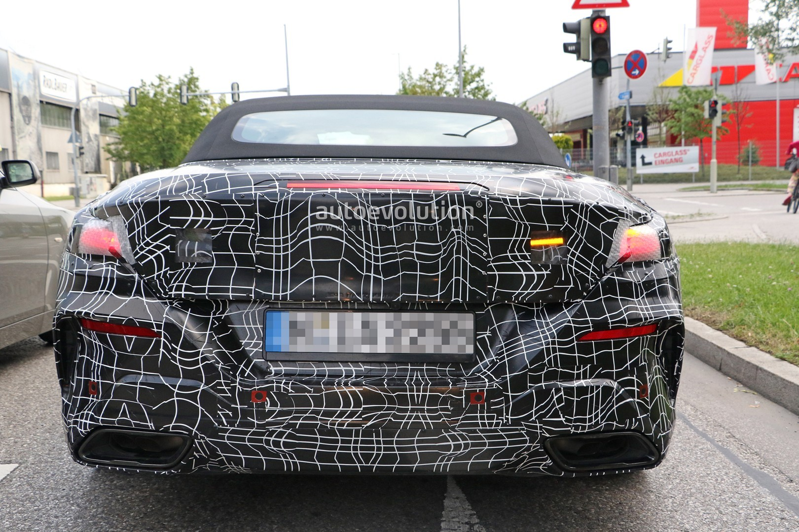 2019 Bmw 8 Series Convertible Shows Uncamouflaged Rear
