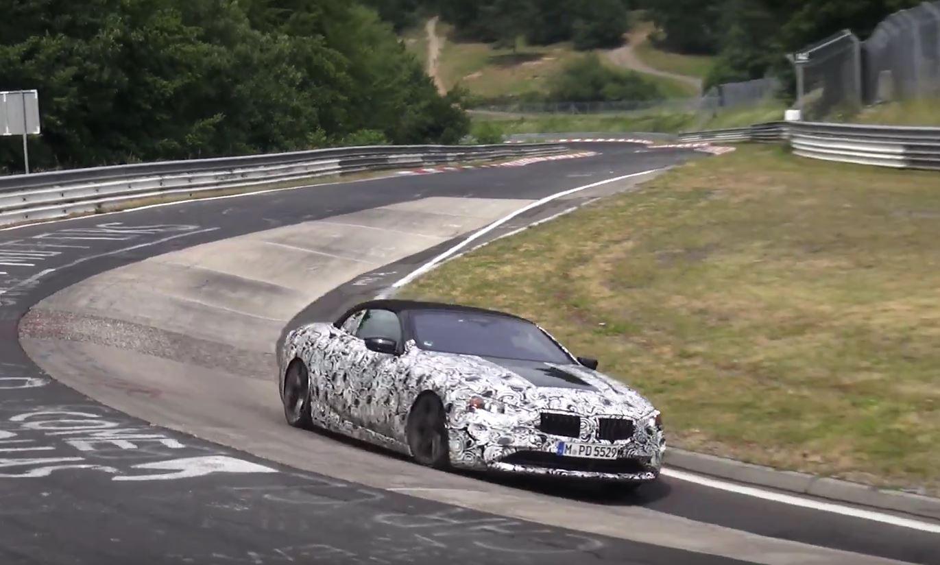 2019 BMW 8 Series Convertible Spied Lapping Damp Nurburgring