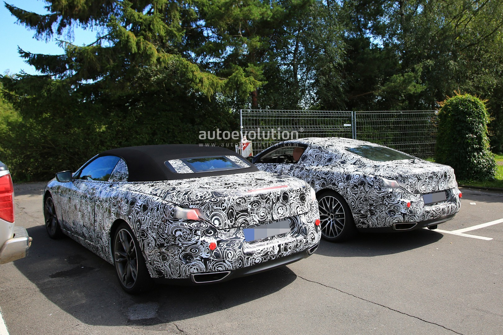 BMW 8 Series Coupe And Cabriolet Spied Side By