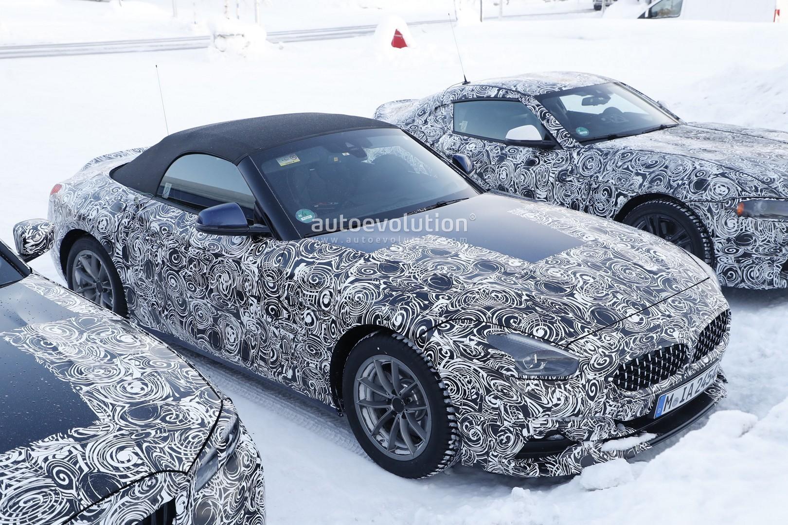 2019 Bmw Z4 Spied Next To Toyota Supra And Next 3 Series Sedan Autoevolution