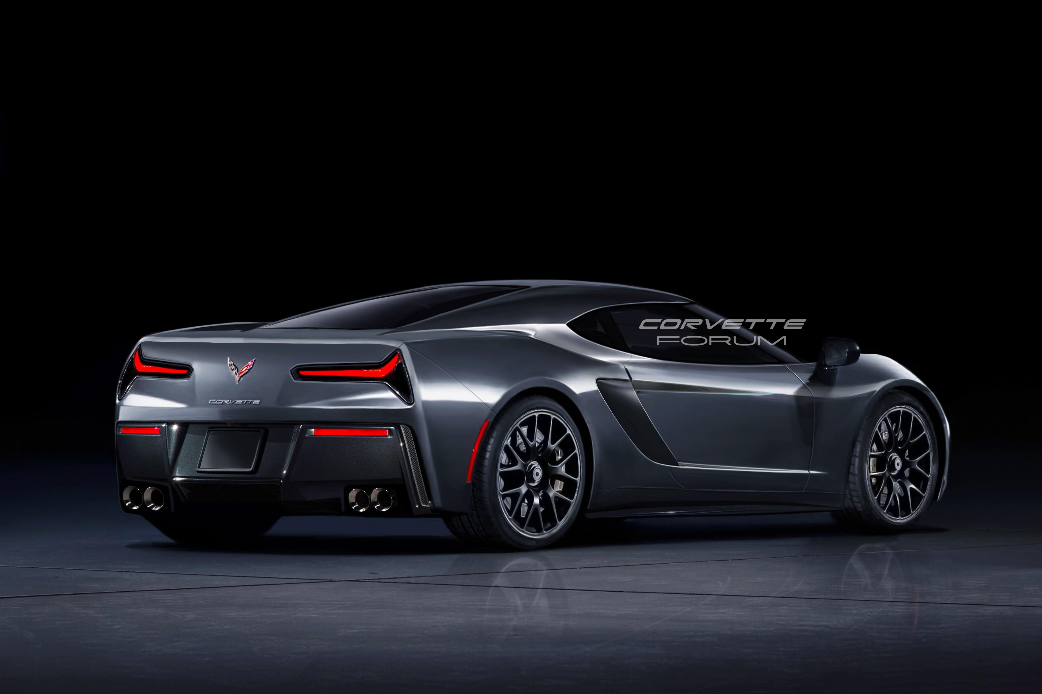 2019 C8 Corvette Rendered Based on Spyshots Looks Like a