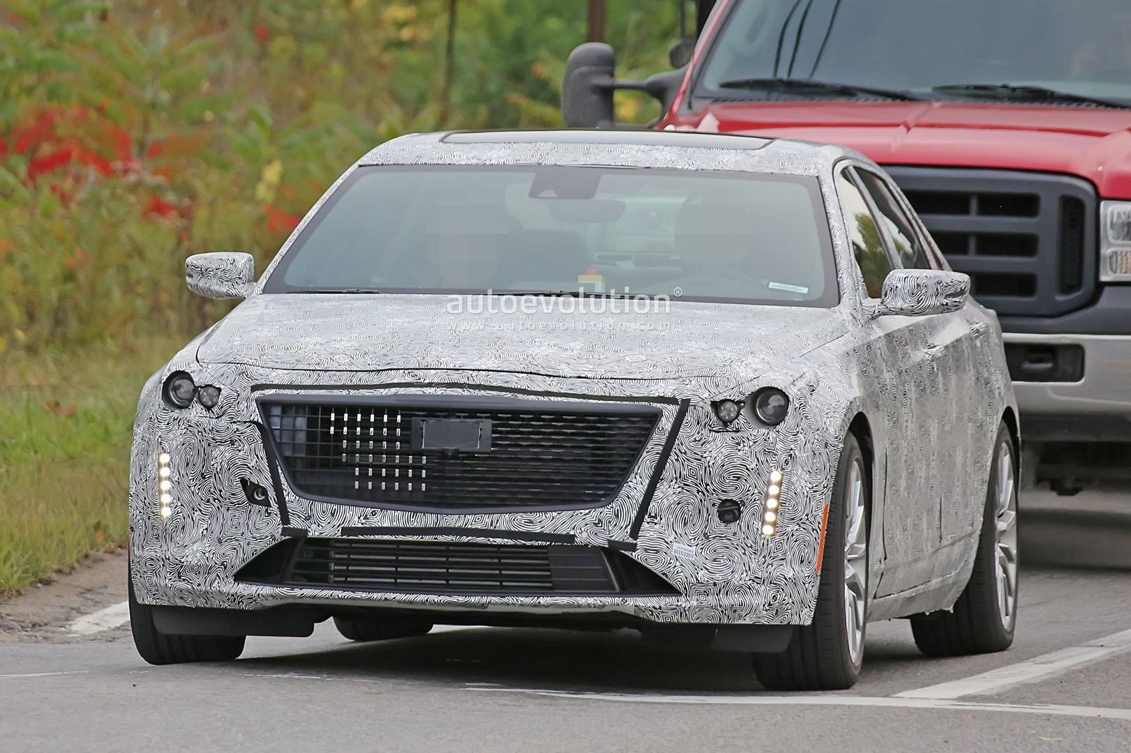 Spyshots: Camouflaged 2019 Cadillac CT6 Facelift Prototype ...