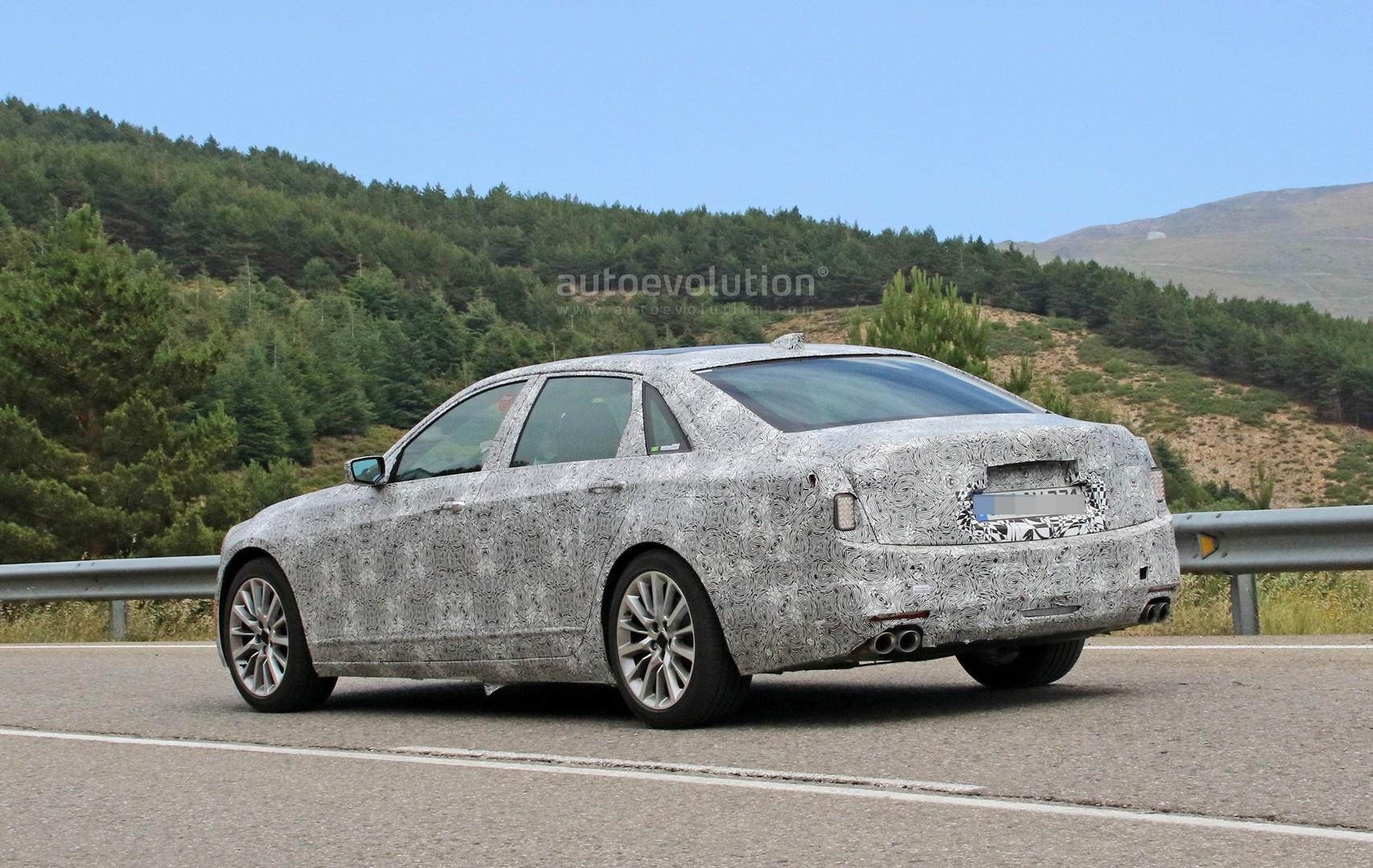 2019 Cadillac Ct6 Facelift Makes Spyshots Debut Has Escala Styling Autoevolution