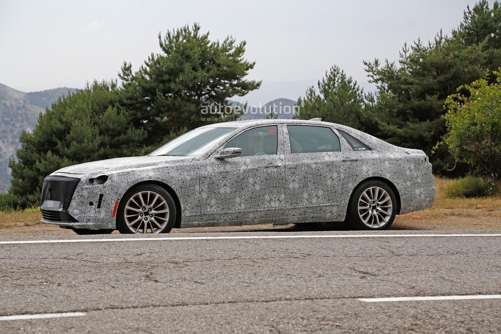 2019 Cadillac CT6 Facelift Makes Spyshots Debut Has