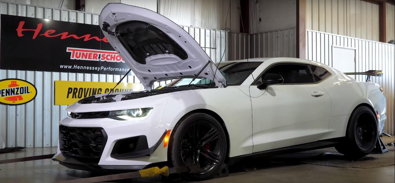 2019 Chevrolet Camaro Zl1 1le Gets 750 Hp Hennessey Boost Screams On Dyno Autoevolution