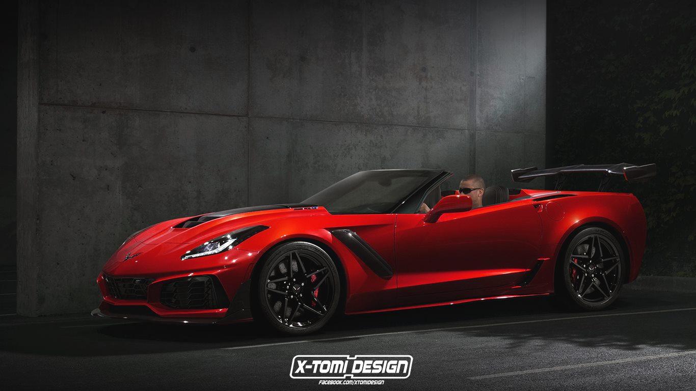 2019 chevrolet corvette zr1 convertible spotted in florida traffic autoevolution. Black Bedroom Furniture Sets. Home Design Ideas