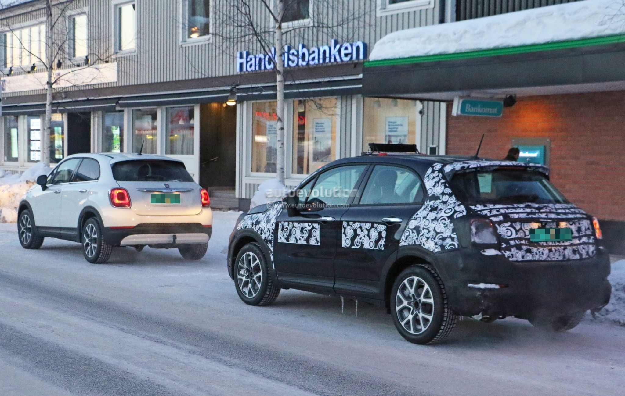 Fiat X Facelift Spied Testing In Sweden