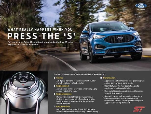 Ford Edge St Sport Mode Explained