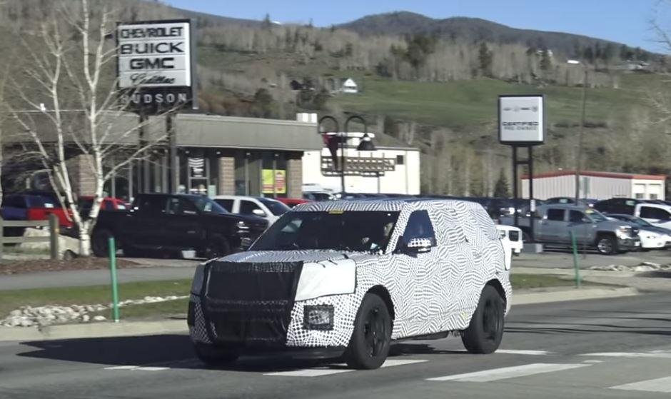 2019 Ford Explorer Spied Prototype Hides Big Design