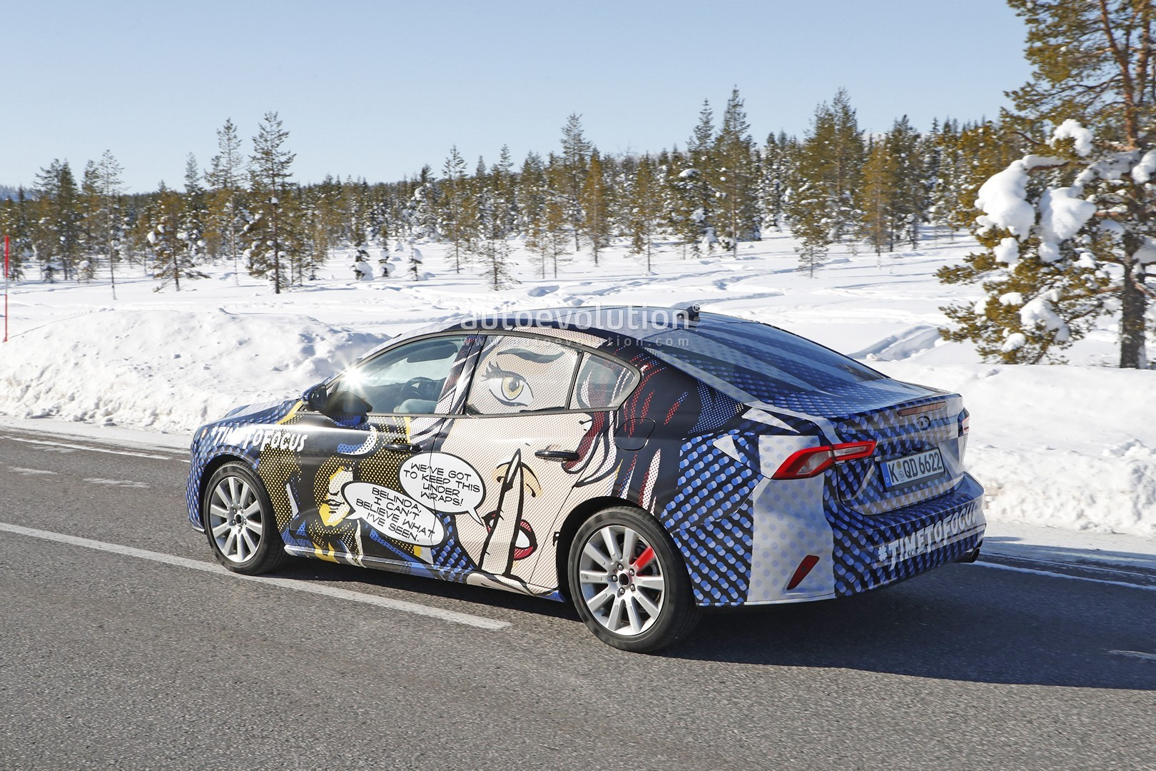2019 Ford Focus Sedan Has Comic Wrap, Looks Like a Volvo - autoevolution