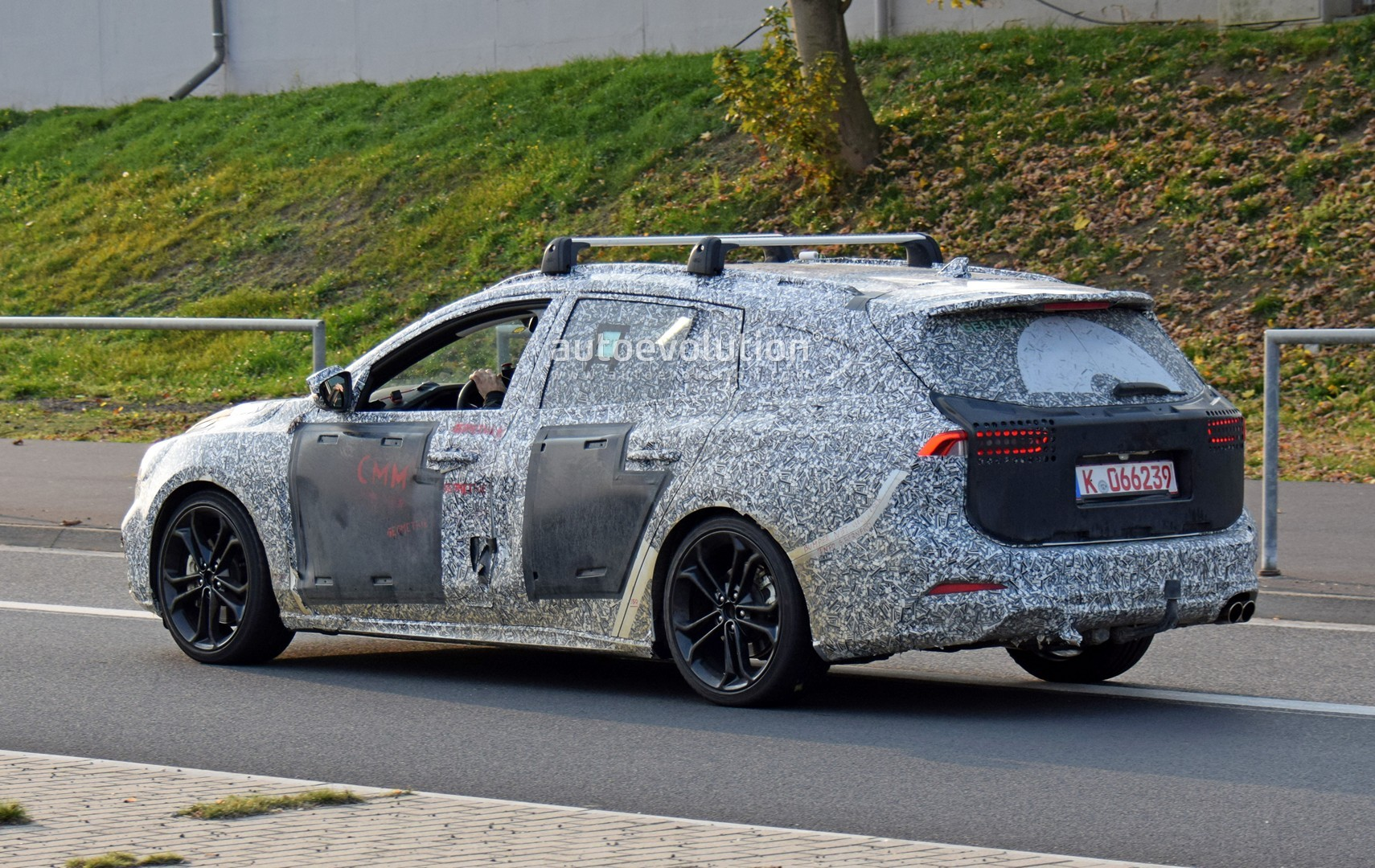2019 ford focus st wagon filmed testing at the nurburgring