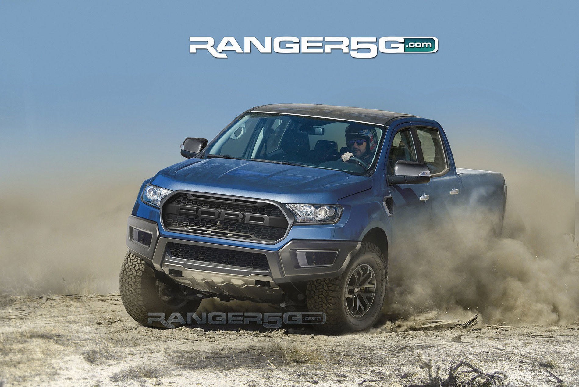 2019 Ford Ranger Raptor Rendered Based on Teaser Video, Looks Spot On - autoevolution