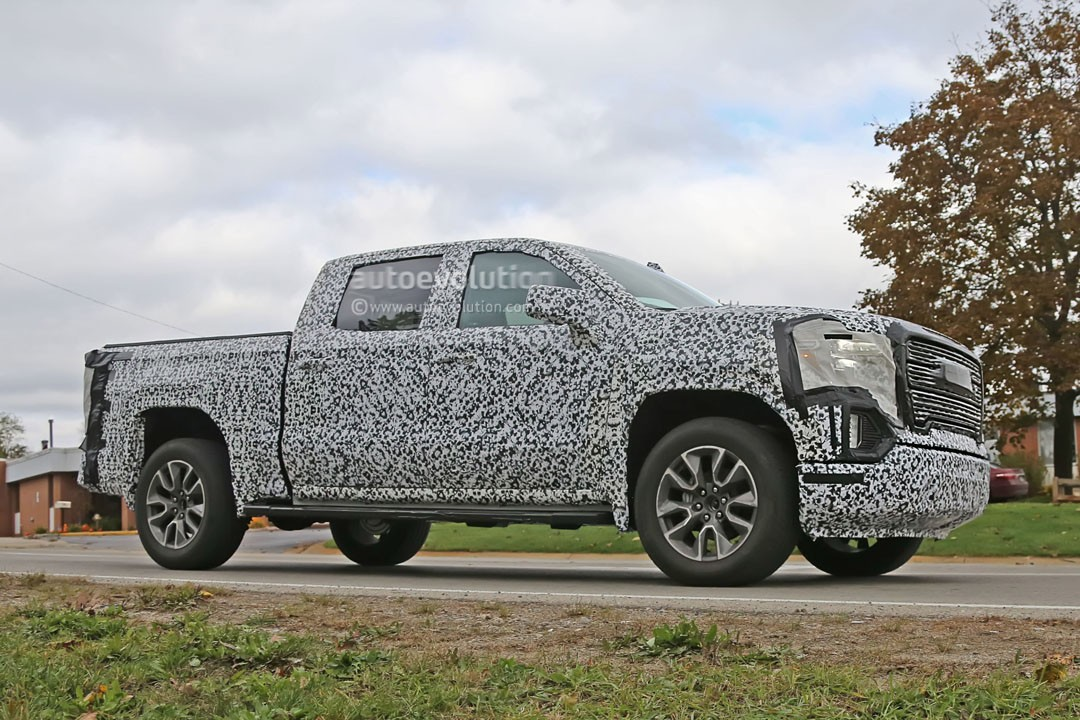 spyshots 2019 gmc sierra 1500 gets aggressive grille and led headlights autoevolution. Black Bedroom Furniture Sets. Home Design Ideas